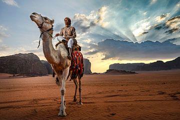 Jordan Wadi Rum, gardien de chameaux sur Paula Romein