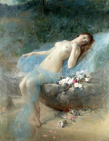 Vlaho Bukovac, Liegender Akt, 1887 von Atelier Liesjes