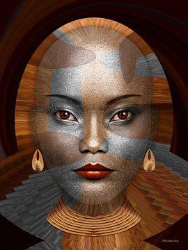 Afrikaanse Fantasie van Ton van Hummel (Alias HUVANTO)