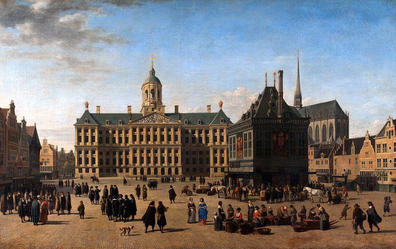 Gerrit Adriaensz Berckheyde. De Dam in Amsterdam van 1000 Schilderijen
