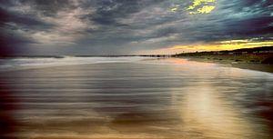 strand van Zoutelande in de avond