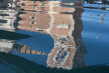 Reflectie van de ingang van het Arsenaal, Venetië  van