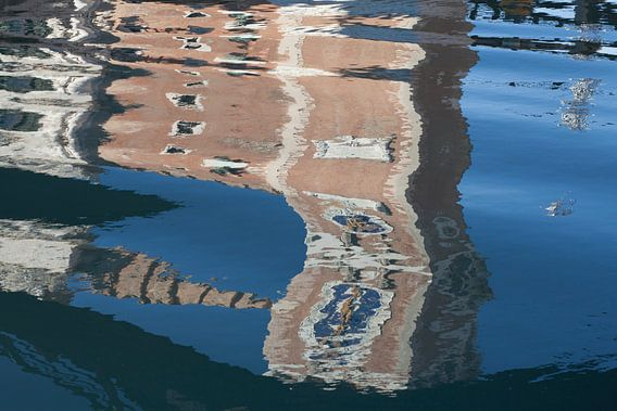 Reflectie van de ingang van het Arsenaal, Venetië