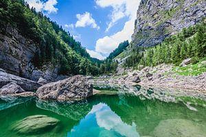 Turquiose meer in de Triglav national park van Slovenië  van