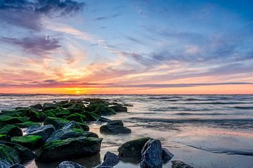 North sea sunset van Richard Guijt Photography