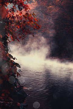Nebel über dem Fluss von Dirk Wüstenhagen
