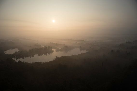 Zonsopgang-Mist- De Peel  van Cor  van Mierlo