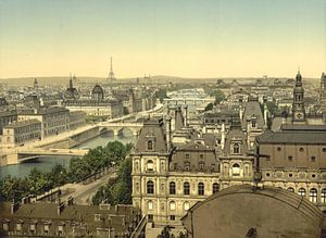 Panorama of the seven bridges, Paris