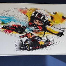 Klantfoto: Max Verstappen - Spa Francorchamps van Martin Melis, op naadloos behang