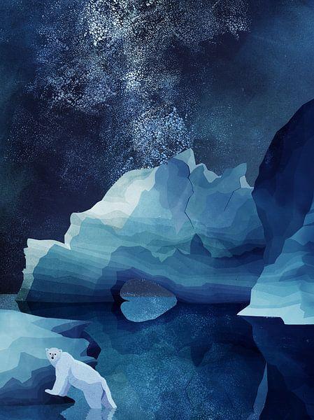 Nachtelijke IJsbeer van Goed Blauw