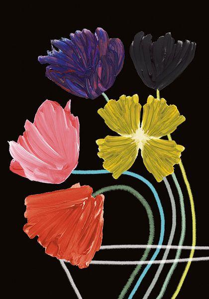Bloemen in vaas van Suzanne Allewelt