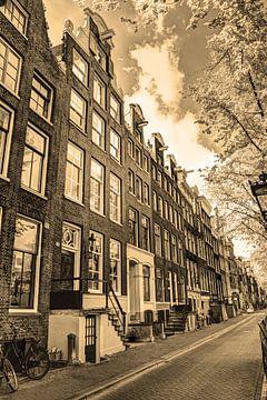 Innere Stadt von Amsterdam Niederlande Sepia von Hendrik-Jan Kornelis