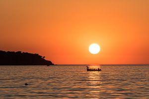Zonsondergang Lesbos van Rinus Lasschuyt Fotografie