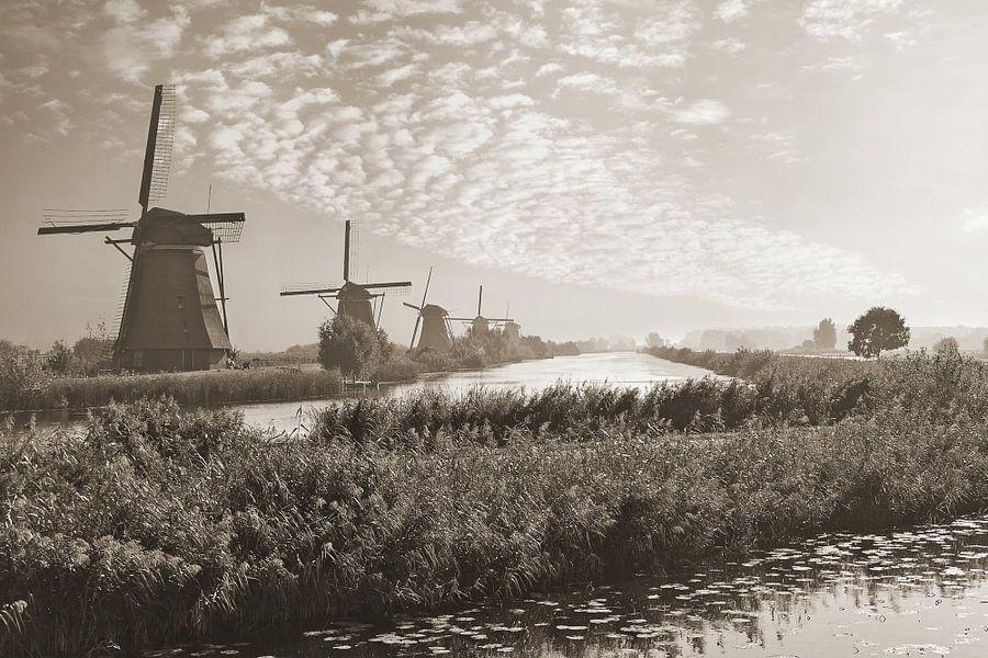 Vroeg op Kinderdijk