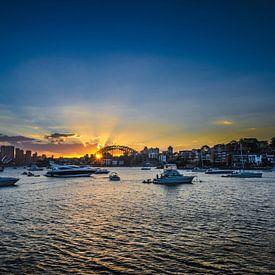 Coucher de soleil à Sydney - Skyline sur Ricardo Bouman