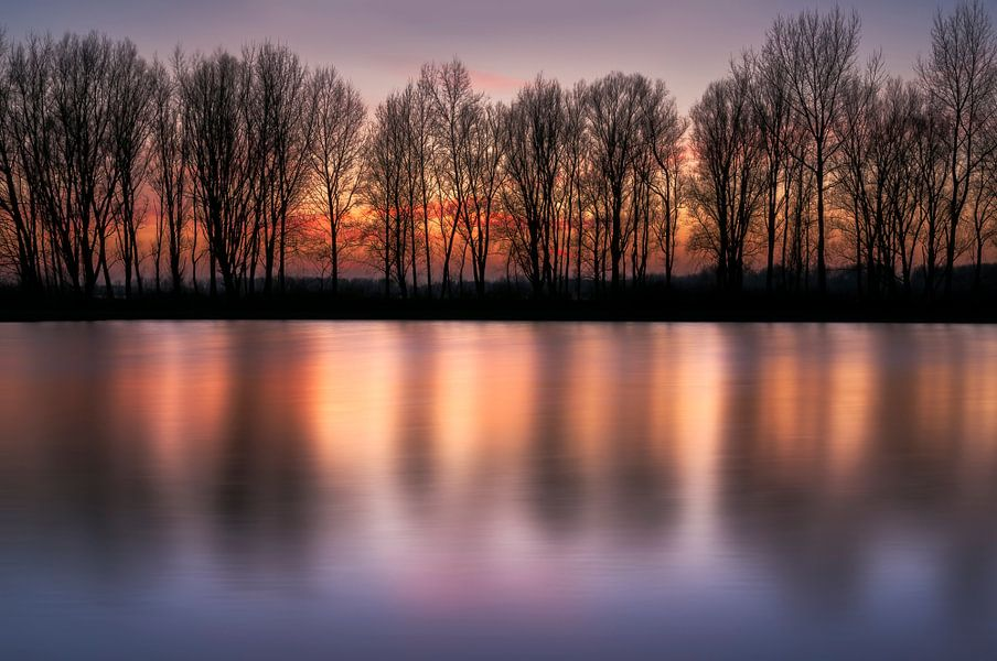 Winter Sunset van M DH