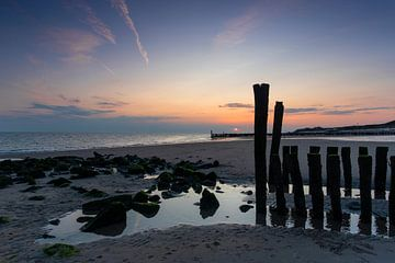 Sonnenuntergang bei Zoutelande 04 von Alexander Tromp
