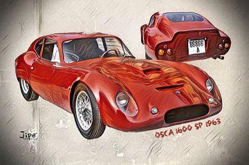 Osca 1600 SP - 1963 von JiPé digital artwork