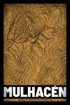 Mulhacén | Kaart Topografie (Grunge) van ViaMapia