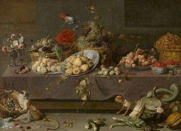 Bloemen en vruchten, Frans Snijders van
