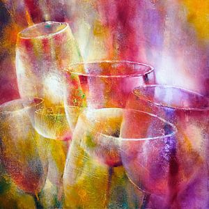 Gläser und Licht