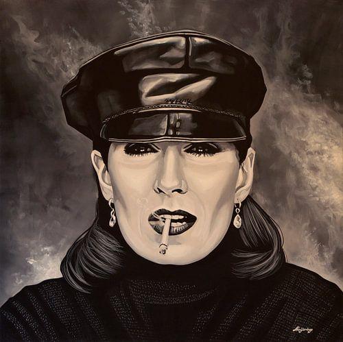 Anjelica Huston schilderij