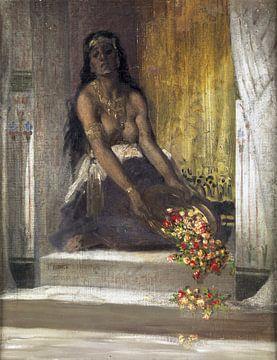 Frau aus dem Harem, Alphonse Etienne Dinet - 1929 von Atelier Liesjes