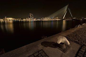 Erasmusbrug in Rotterdam gezien vanaf de kade van Jeroen Stel