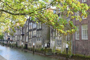 Huizen aan het water in Dordrecht van Nicolette Vermeulen