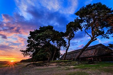 Ginkelse Heide Zonsondergang 3 von Joram Janssen