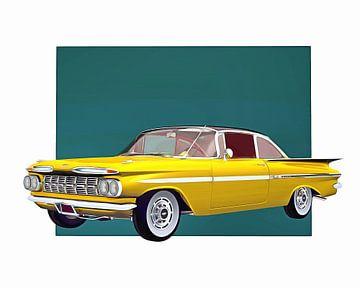 Klassieke auto – Oldtimer Chevrolet Impala 1959 hard top