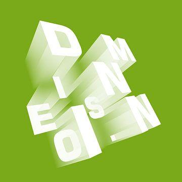 Dimensieperspectief groen van Jörg Hausmann