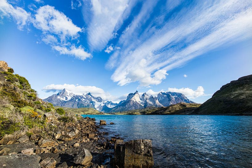 Torres Del Paine from Pehoe Lake hosteria Chile van Alex van Doorn
