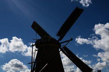 Holländische Windmühle in der Silhouette von FotoGraaG Hanneke