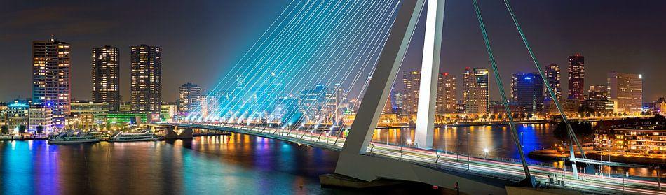 Panorama Rotterdam met de Erasmusbrug van Anton de Zeeuw