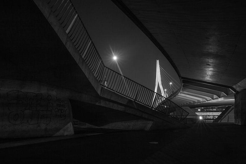 De Erasmusbrug in Rotterdam van MS Fotografie   Marc van der Stelt