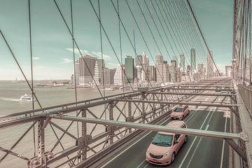 Urbane Impression von der Brooklyn Bridge | urbaner Vintage-Stil von Melanie Viola