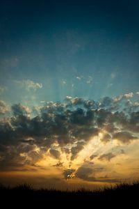 Sunset above the North Sea van Boy  Driessen