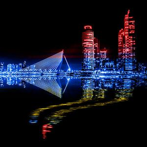 Rotterdam zwart, rood, blauw en geel