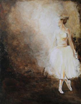 Spotlight. Ballerina danser in het spotlicht van Linda Dammann
