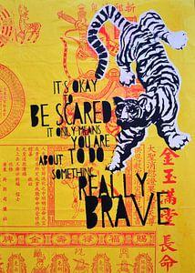 Brave yellow tiger