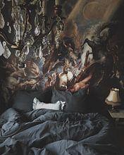 Klantfoto: De val van Phaëton, geschilderd door Peter Paul Rubens, op naadloos behang