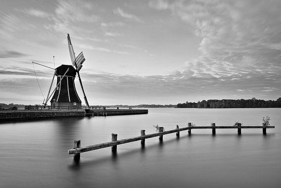 Molen nabij Paterswoldsemeer, Haren, Nederland van Peter Bolman