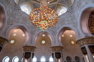 Interieur van de Sheikh Zayed-moskee
