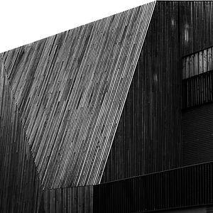 Abstract lijnenspel in Nijmegen van Wouter Loeve