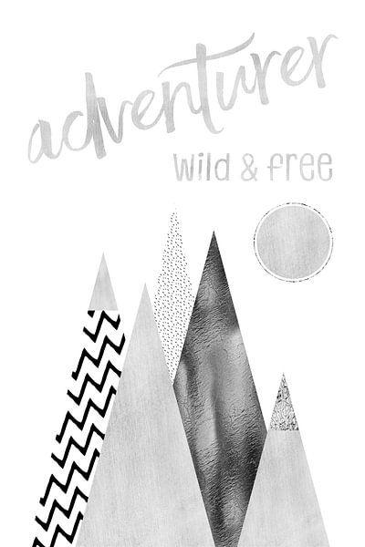 GRAPHIC ART Adventurer - Wild & Free van Melanie Viola