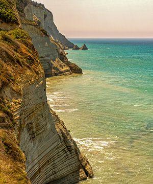 Hautes falaises à Sidari Corfou Grèce sur Marjolein van Middelkoop