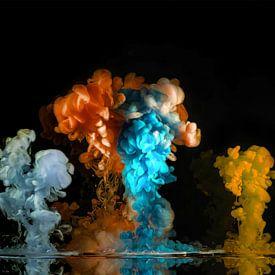 Explosie van kleur van Rietje Bulthuis