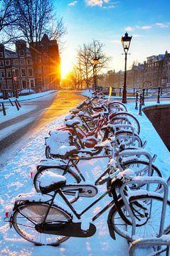 Amsterdam Winter Radfahren von Dennis van de Water