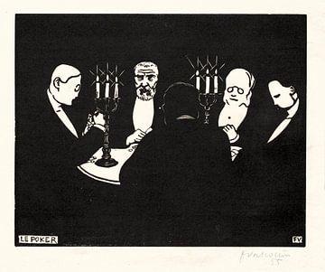 Poker - Felix Vallotton, 1896 von Atelier Liesjes